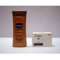 Vaseline Intensive Care Cocoa Glow Body Lotion, 100ml With Free Dove Cream Beauty Bathing Bar, 50g