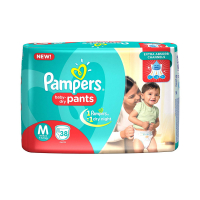 Pampers New Diapers Pants, Medium, 38 Count
