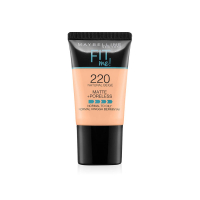 Maybelline New York Fit Me Matte+poreless Liquid Foundation Tube, 220 Natural Beige, 18 Ml