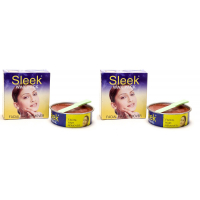 Sleek Facial Hair Remover Wax Pack Of 2 (each-80g)