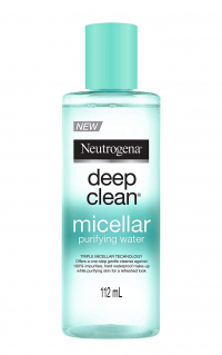 Neutogena Deep Clean Micellar Purifying Water, Transparent, 112 Ml