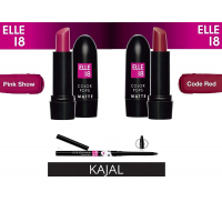 Elle 18 Combo Of Color Pop Matte Lipstick Code Red And Pink Show