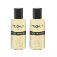Trichup Healthy, Long & Strong Hair Oil - With The Natural Goodness Of Sesame & Coconut Oil And Enriched With Aloe Vera & Neem (200ml) (pack Of 2