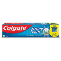 Colgate Strong Teeth Anti-cavity Toothpaste - 200g With Free Hair Oil
