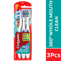 Colgate Toothbrush - 360 Degree Whole Mouth Clean Buy 2 Get 1 Free