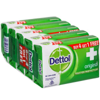 Dettol Original Soap (buy 4 Get 1 Free) 5*125 Gm