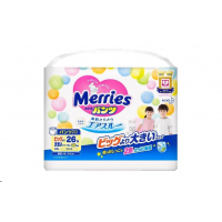 Merries Pants - Exceptional Breathability Extra Extra Large Size Diapers (26 Count)